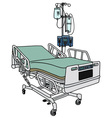 Hospital position bed vector image