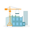 house building process flat vector image vector image