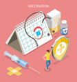 isometric flat concept vaccination vector image