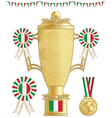 italy football trophy vector image