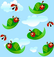 ladybug fly on a leaf vector image
