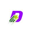 letter d logo alphabet shape abc concept t vector image