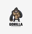 logo gorilla simple mascot style vector image vector image