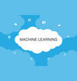 machine learning infographic cloud design template vector image vector image