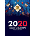 merry christmas and happy new 2020 year holiday vector image vector image