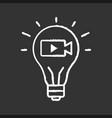 movie idea chalk icon vector image vector image