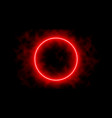 neon laser vibrant circle with sparks haze and vector image