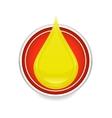 oil drop symbol vector image vector image