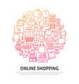 online shopping circle concept vector image