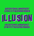 optical illusion alphabet sliding letters vector image vector image