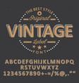 Original vintage font poster