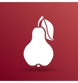 Pear logo fruit diet leaf dieting health food vector image vector image