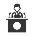 public speaker icon on white background vector image vector image