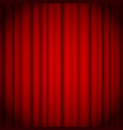 red curtains background illuminated by a beam of vector image vector image
