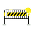 Road barrier and building helmet vector image vector image