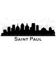 saint paul minnesota city skyline silhouette with vector image vector image