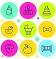 set of icons baby goods vector image vector image
