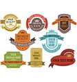 Set of vintage label banner vector image vector image