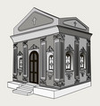 shades of gray crypt cemetery church vector image