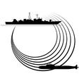Sonar vector image
