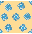 Spiral abstract blue seamless pattern vector image