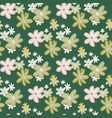 spring seamless floristic pattern with abstract vector image vector image