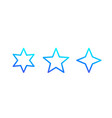 star icons line vector image vector image