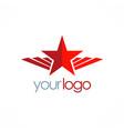 star wing emblem logo vector image vector image