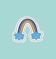 sticker or patch design rainbow flat cartoon vector image vector image