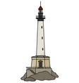 the funny old stone lighthouse vector image vector image