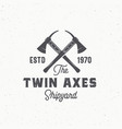 twin axes abstract sign symbol or logo vector image vector image