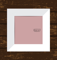 White Picture Frame with Wooden Background vector image vector image