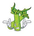wink wasabi character cartoon style vector image