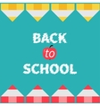 Yellow and red pencil frame Back to school card vector image