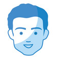 young man head avatar vector image vector image