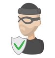 Of crime insurance icon cartoon style vector image