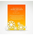Snowflake and bright christmas background vector image