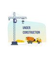 construction under development building house vector image