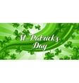 Saint Patricks Day banner Green clover shamrock vector image
