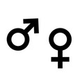 symbol of female and male on white vector image