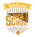 back to school colorful doodle lettering sign of vector image vector image