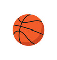 basketball ball icon flat vector image vector image