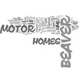 beaver motor home text word cloud concept vector image vector image
