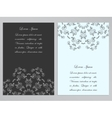 Black and white flyers with ornate floral pattern vector image vector image