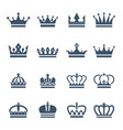 black crowns symbols for luxury logos and badges vector image vector image