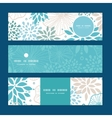 blue and gray plants horizontal banners set vector image vector image