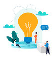 business development project and research testin vector image