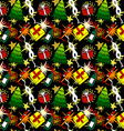 Cartoon Christmas seamless pattern vector image vector image