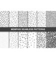 collection of swathces memphis patterns - seamless vector image vector image