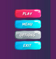 colorful options panel isolated set vector image